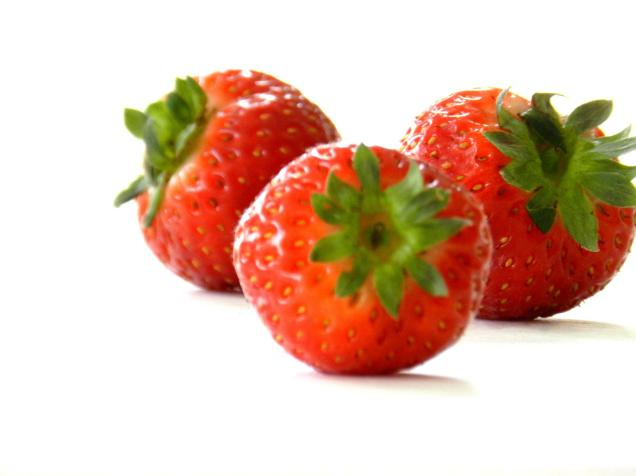 Healthy strawberries